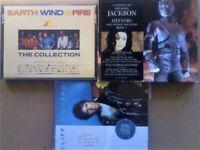 A-Z EARTH WIND & FIRE MICHAEL JACKSON CLIFF RICHARD DOUBLE ALBUM PRERECORDED CASSETTE TAPES