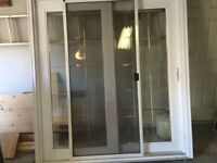 Sliding patio doors - well insulated with beveled glass