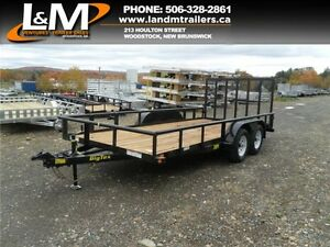 "NEW 2017 BIG TEX 83""X16' UTILITY TRAILER"