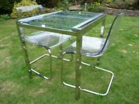 IKEA Gilvarp Glass Extending Table & 2 Tobias Chairs in VGC