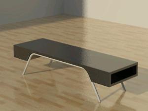 Rare IKEA Bankas modern coffee table (Black-brown)