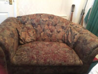 Sofas: Welbeck low-back sofas (1 x 2-seater, 1 x 3-seater), quality furniture, smoke-free home £45