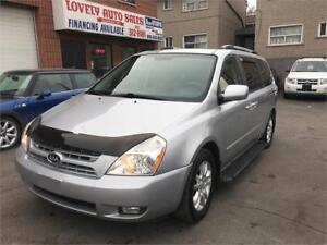 2010 Kia Sedona EX,LEATHER HEATED SEATS,DVD,RUNNING BOARDS