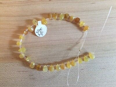 Yellow Jade Pear Faceted 8x5 Beads