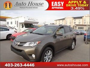 2013 Toyota RAV4 Limited HEATED LEATHER SEATS 90 DAYS NO PAYMENT