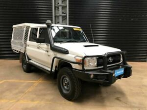 2014 Toyota Landcruiser VDJ79R MY13 Workmate Double Cab White 5 Speed Manual Cab Chassis Winnellie Darwin City Preview