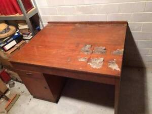 Large old plan desk Abbotsford Canada Bay Area Preview