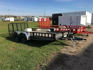 "14' x 83"" Channel Utility Trailer, 2,990 GVWR (U8)"