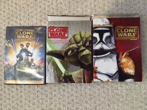 Star Wars the Clone Wars, Season 1&2 and the movie on DVD