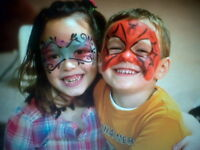 FACE PAINTING/ window painting,art classes and children's murals