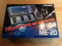 Boss ME 20 Multiple Effects pedal and Power Supply