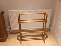 Wooden towel rail/stand