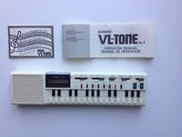 VINTAGE CASIO VL-1, VL-TONE MINI KEYBOARD SYNTH SEQUENCER + CALCULATOR