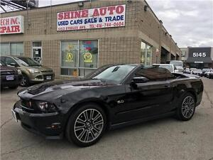 2012 Ford Mustang GT 5.0 RED LEATHER CONVERTIBLE