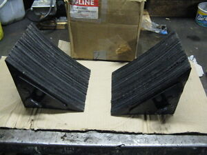 "ULINE Laminate Wheel Chocks""Brand New"""