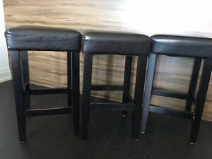 3 COUNTER HEIGHT BARSTOOLS - $75