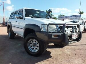 2005 Nissan Patrol GU IV MY05 DX White 4 Speed Automatic Wagon Rosslea Townsville City Preview