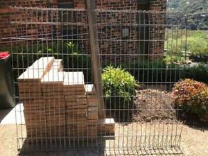 FREE Fencing - Galvanised Panel 180cm Wide x 150cm High   3mtr Post