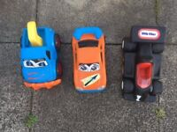 3 large chunky cars for toddlers
