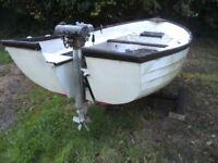 15 ft fibre glass open fishing boat