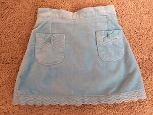 The Children's Place Toddler Girls Blue Lace Velour Skort Size 3