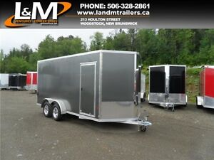 NEW 2016 STEALTH ALUMINUM 7X16' ENCLOSED CARGO TRAILER- XTRA HGT
