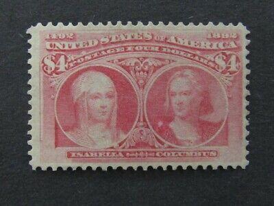 Nystamps US Stamp # 244 Mint OG LH $2100 g2yp