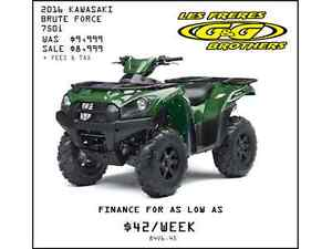 2016 BRUTE FORCE 750i REDUCED TO $8,499 NO CHARGE 1ST SERVICE