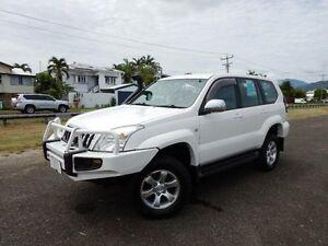 2003 Toyota Landcruiser Prado GRJ120R GXL (4x4) White 4 Speed Automatic Wagon Bungalow Cairns City Preview