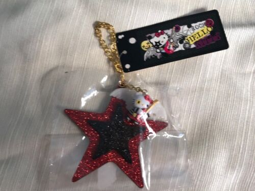 RARE! SANRIO HELLO KITTY KEY CHAIN COLLECTIBLE KISS ROCK