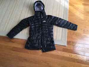 The North Face Girl's black down coat size 7-8