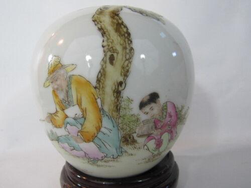 Lovely Chinese antique porcelain brush washer