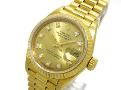 Auth ROLEX Datejust 69178G ChampagneGold 18K Yellow Gold L989056