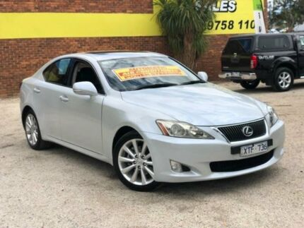 2010 Lexus IS250 GSE20R MY11 Prestige Pearl White 6 Speed Auto Sequential Sedan Upper Ferntree Gully Knox Area Preview