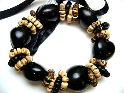 Hawaii Wedding / Graduation Kukui Nut Luau Hula Jewelry Bracelet ~#24088 (QTY 2)