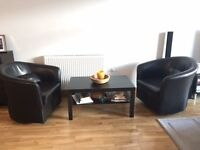 Swivel Chairs & Table