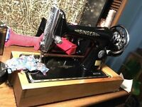 Antique 1915 Singer 66k hand crank sewing machine - working and oiled