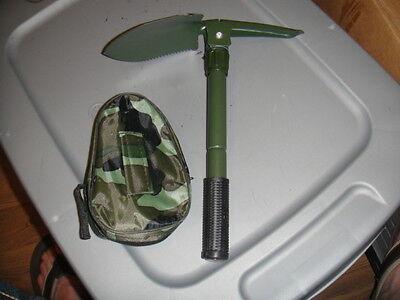 Survival Gear Emergency Sport Hike Car Folding Shovel Pouch Military