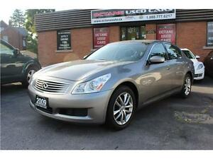 2009 Infiniti G37x AWD Sedan Rear Camera/Navigation/Radar Cruise