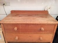 Pair of pine chests of drawers