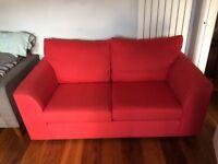 Sofa ex John Lewis in red
