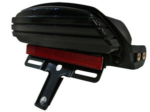 Tri-Bar-Fender-LED-License-Plate-Bracket-Tail-Light-for-2006-2013-Harley-Softail