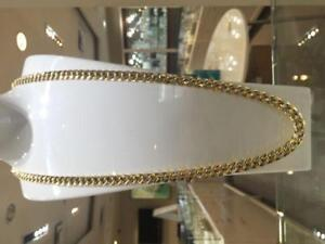 10k Yellow Gold Diamond cut Cuban Link 36 inches 9.6 mm 74.4 gr