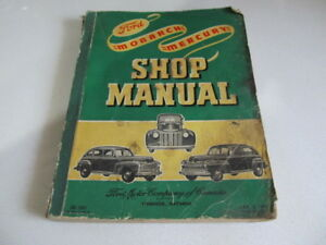 1939-1948 Ford Mercury Original Shop Overhaul Manual