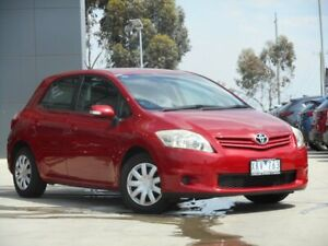 2009 Toyota Corolla ZRE152R MY10 Ascent Red 6 Speed Manual Hatchback Ravenhall Melton Area Preview