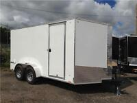 7X14 PACE V-NOSE SCREWLESS SIDES CARGO TRAILER - BARN DOORS
