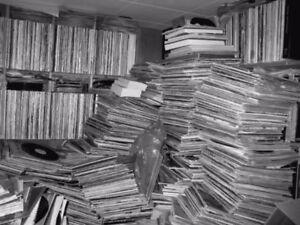 Vente de disques vinyles , 33 tours, dimanche 21 janvier