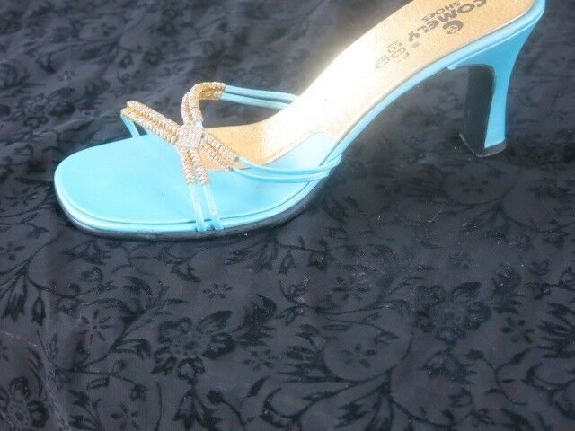 Occasion Sandals- Blue heeled - Good as New