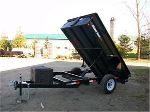 10 foot single axle dump trailer