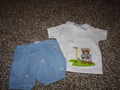 Boys Golf Short Set (BOUTIQUE MUDPIE 0-6 GOLF SHIRT SHORT SET BOYS )